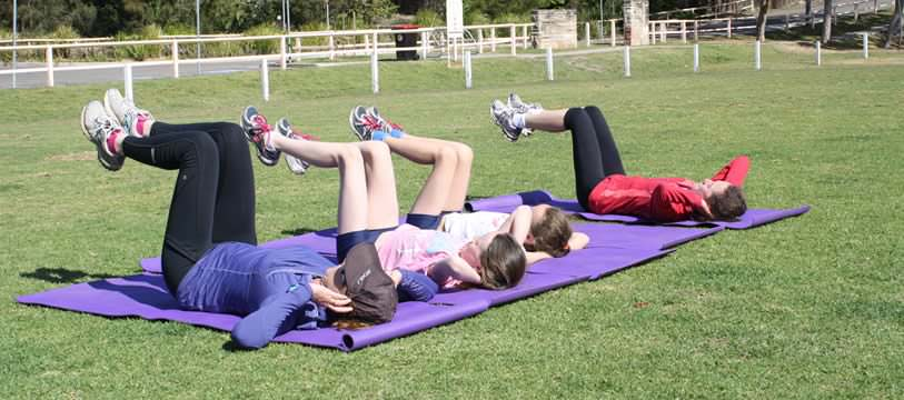 An outdoor JusFitness training session